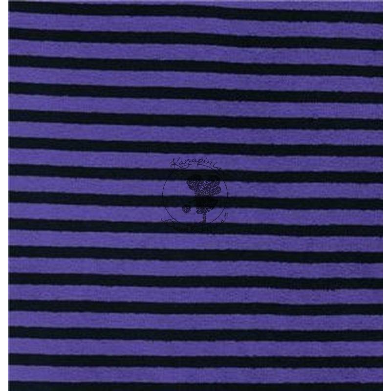 Medv.veliūras dryžuotas Violetinis/juodas