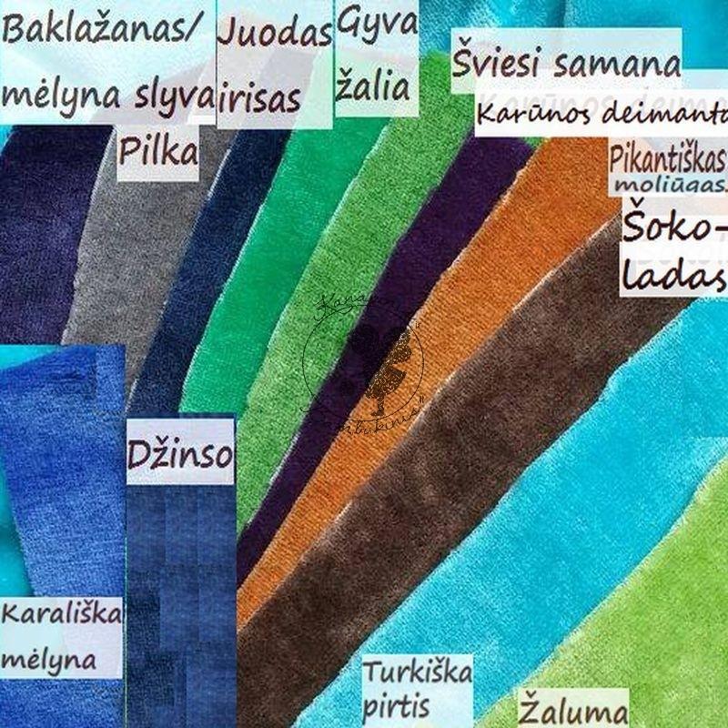 Bambuko veliūrai 12 spalvų