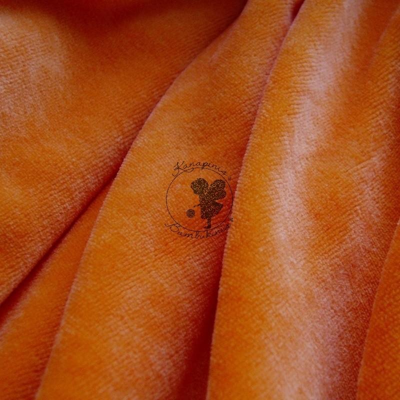 Bambuko veliūras /Oranžinis/ PIGIAU
